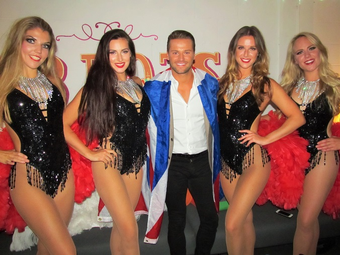 Celebrity Big Brother 2015 winner James Hill with The Vegas Show Girls