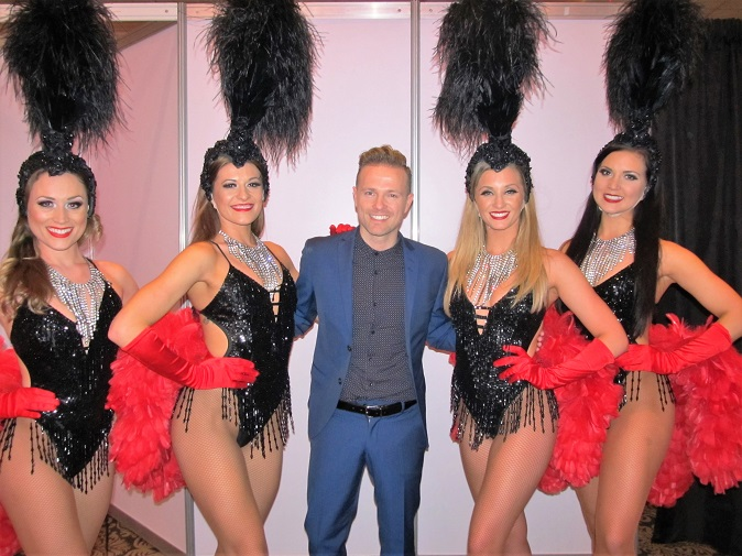 Event Dancers UK Parisian Themed Show Girls with West LIfes Nicky Byrne